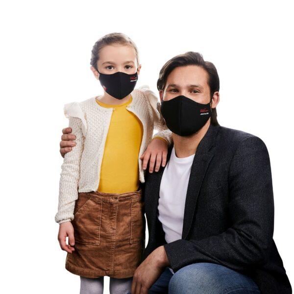 Mascarilla Reutilizable HeiQ Viroblock Multi Hi-Tech color negro para familias