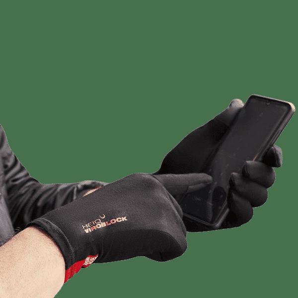Guantes con HeiQ Viroblock funcionan con pantalla táctil de móvil