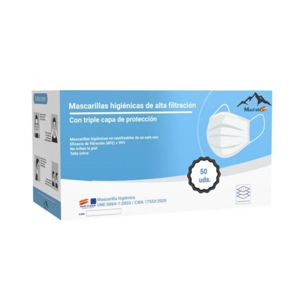Mascarillas Higiénicas fabricadas 100% en España